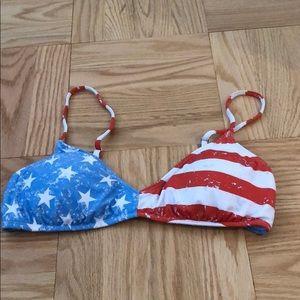 Like new American flag bikini top
